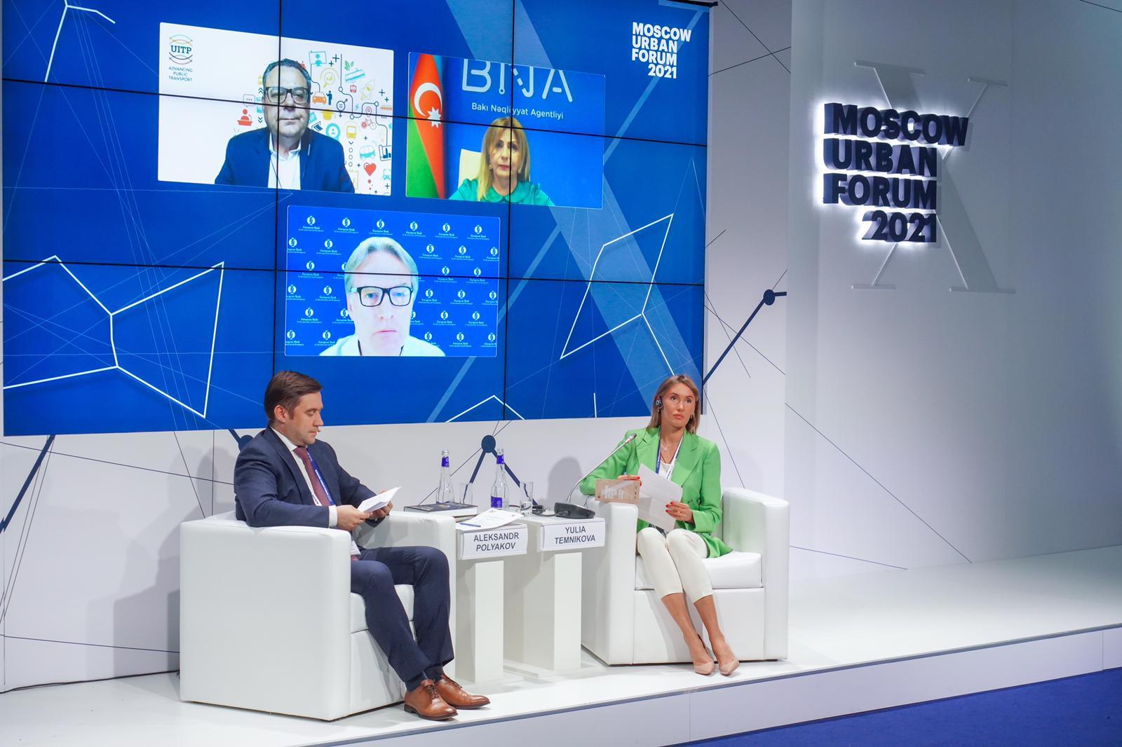Moskva Şəhər Forumu çərçivəsində UITP-nin Avrasiya bölməsi üzrə dəyirmi masa keçirilib