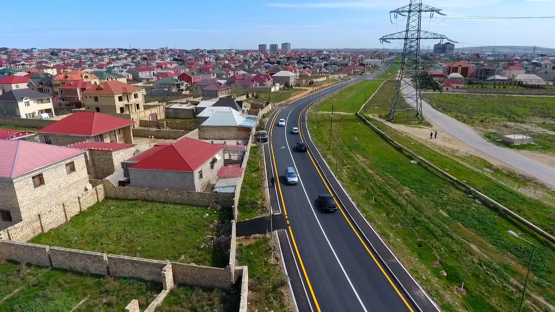 Abşeron rayonunda 23 küçə və yolun təmiri davam etdirilir