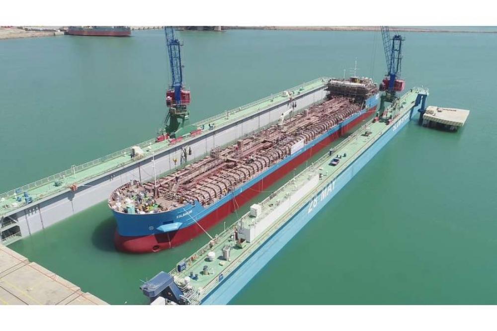 Azərbaycan istehsalı olan ikinci tanker inşasının ikinci mərhələsi üçün suya salınıb