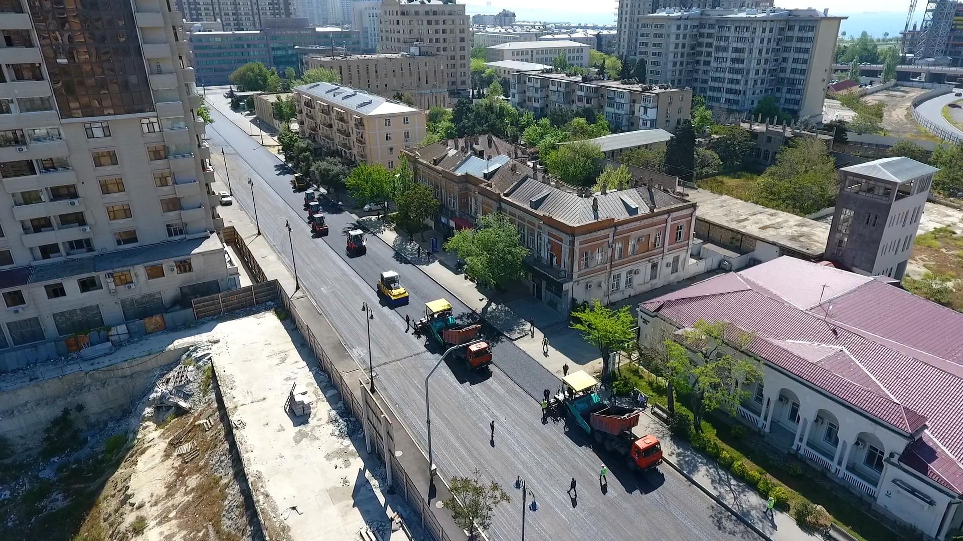 Yusif Səfərov küçəsində yeni yol qovşağının yaradılması istiqamətində işlər yekunlaşır