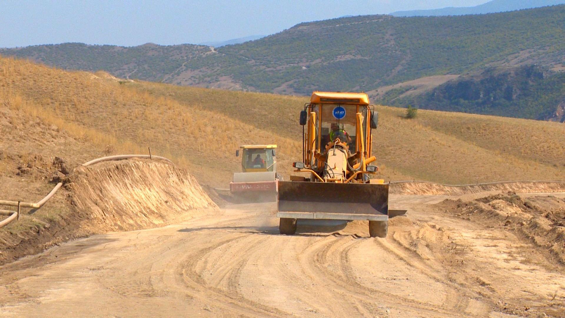 Sərhədyanı kəndin yolu təmir edilir (FOTO)