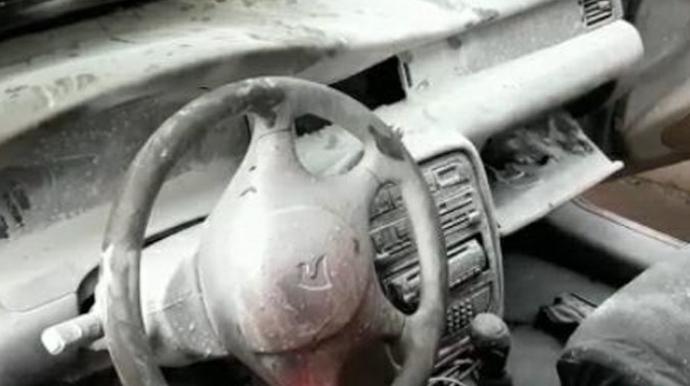 Gəncədə hərəkətdə olan minik maşını yanıb