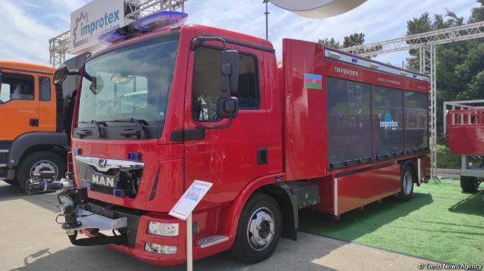 Azərbaycan ilk dəfə yanğınsöndürmə avtomobilinin istehsalına başladı-FOTO/VİDEO